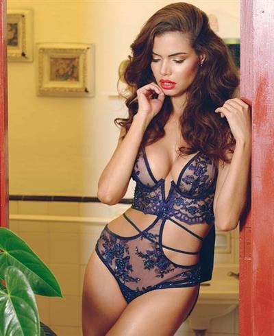 Linda Palacio in lingerie