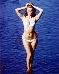 Barbara Bouchet in a bikini