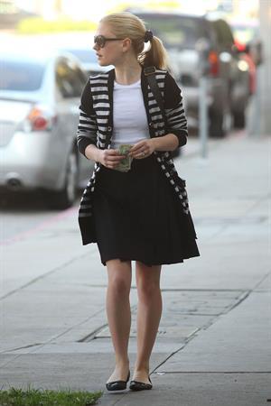 Anna Paquin at John Frieda Salon in Los Angeles on January 18, 2012