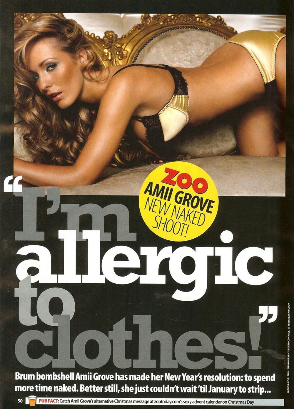 "Amii Grove Nude Pics amii grove nude in ""zoo"" magazine dec. 2007 hq scans"