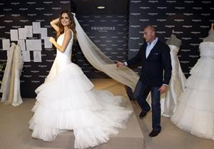 Ariadne Artiles presents Pronovias 2011 collection in Barcelona Spain on May 17, 2010