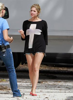 Ashley Benson on the set of Spring Breaks on March 8, 2012