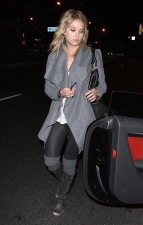 Ashley Benson outside BOA Steakhouse in Los Angeles on January 18, 2012