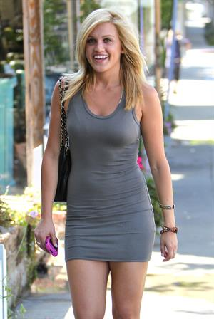 Ashley Roberts leaving the Ken Paves Hair Salon in Los Angeles CA on July 19, 2010