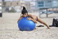 Bai Ling American-flag Bikini On Beach Los Angeles (10/04/12)
