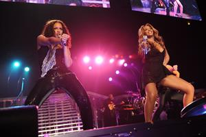 Beyonce Knowles, Alicia Keys concert at Madison Square Garden on March 17, 2010