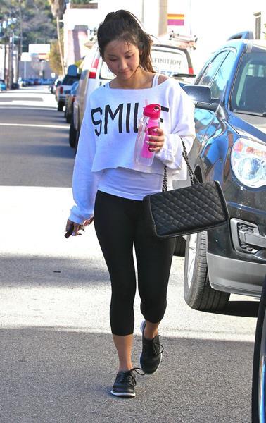 Brenda Song leaving the gym in Studio City 1/19/13