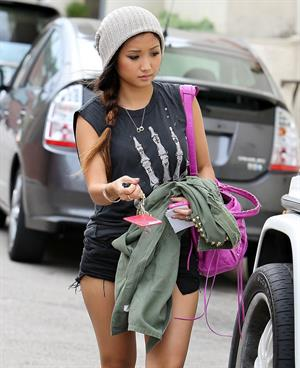 Brenda Song in short shorts in Studio City 10/9/12