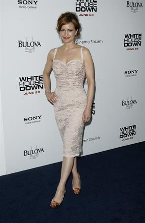 Carla Gugino  White House Down  New York Premiere on June 25, 2013