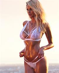 Emma Hernan in lingerie