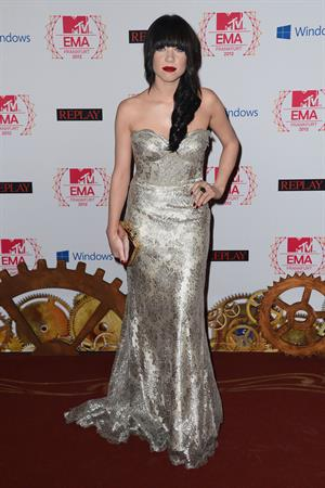 Carly Rae Jepsen on the red carpet at the 2012 MTV Europe Music Awards in Frankfurt, Germany 11/11/12