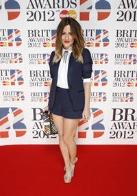 Caroline Flack Brit Awards 2012 in London on February 21, 2012