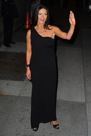 Catherine Zeta-Jones - arrives at The Late Show 1/10/13