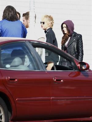 Cher Lloyd arriving at Astor theater in Australia 11/1/12