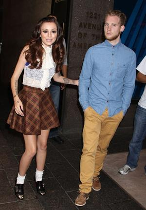 Cher Lloyd leaves Sirius Radio studios in NYC October 4, 2012