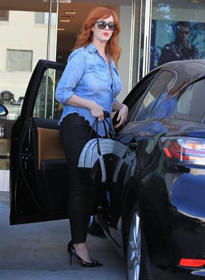 Christina Hendricks in Hollywood on August 20, 2012