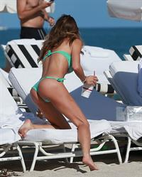 Claudia Galanti bikini candids in Miami Beach 12/6/12
