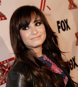 Demi Lovato Factor viewing party in West Hollywood 12/6/12
