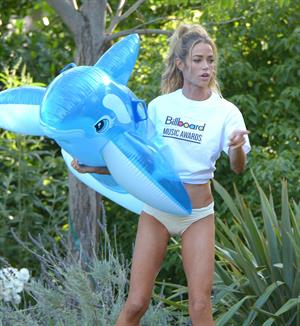 Denise Richards Has some fun in the sun at a Beverly Hills Hotel in Los Angeles May 16, 2013