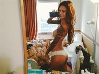 Jenah Yamamoto in lingerie taking a selfie