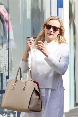 Diane Kruger Out for some shopping at a Westfield Mall in LA on April 3, 2013