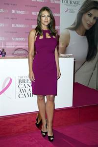 Elizabeth Hurley Estee Lauder's Breast Cancer Awareness campaign in London - Oct 8, 2012