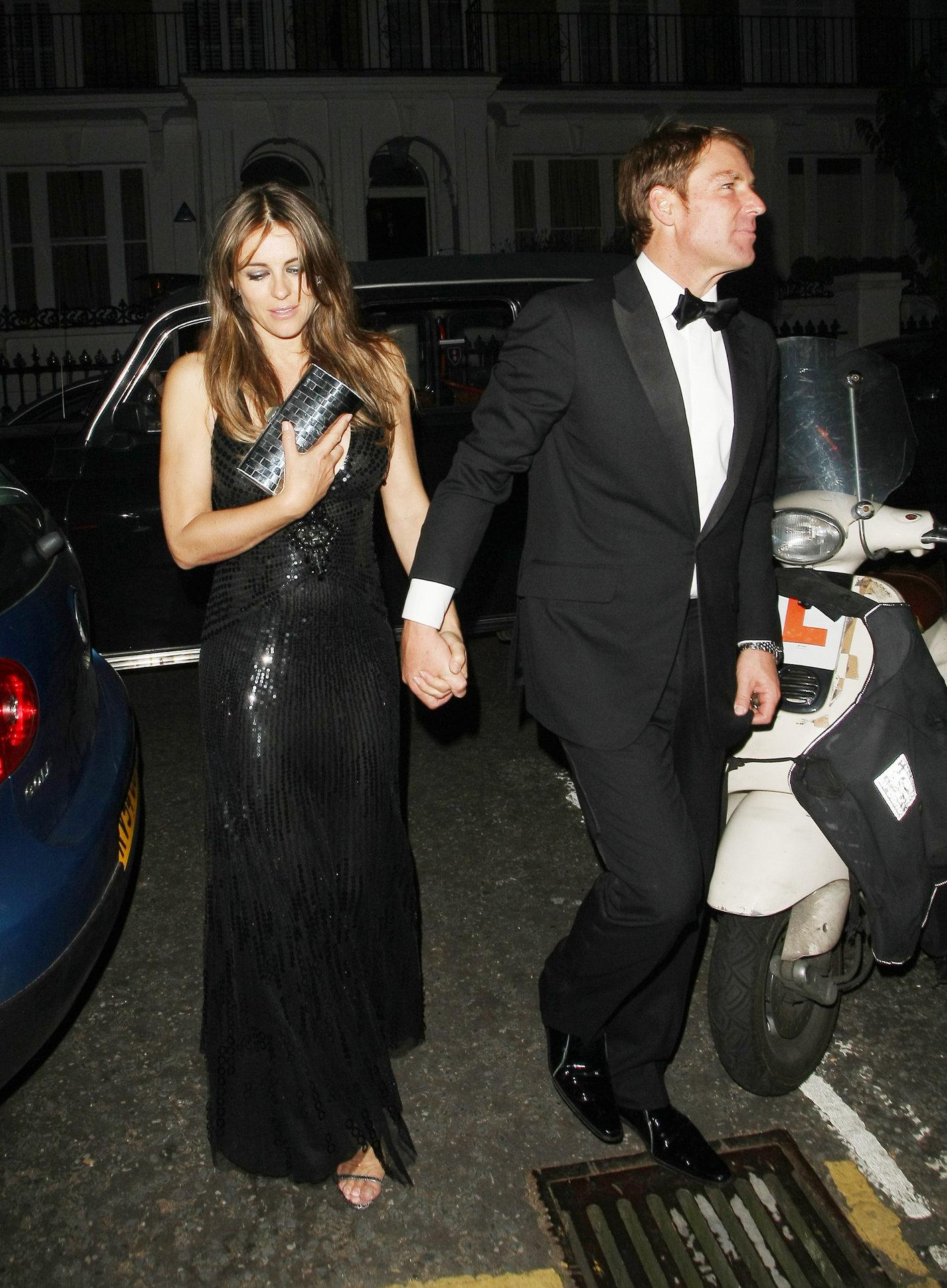 Elizabeth Hurley - Attending a friend's birthday party in London - July 5, 2012