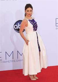 Emilia Clarke - 64th Primetime Emmys Nokia Theatre LA Sept 23, 2012