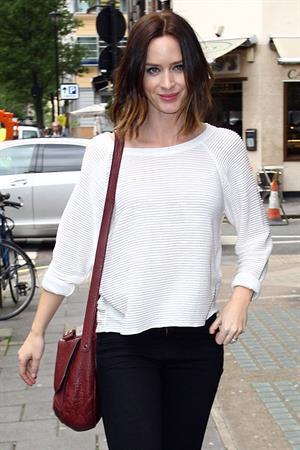 Emily Blunt - Seen leaving BBC Radio One studios, London - June 13, 2012