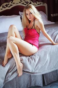 Jennifer Mackay in lingerie