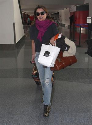 Emma Roberts departing on a flight at LAairport in Los Angeles, California on December 22, 2012
