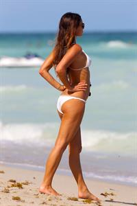 Gabrielle Anwar bikini candids on the beach in Miami 10/5/12