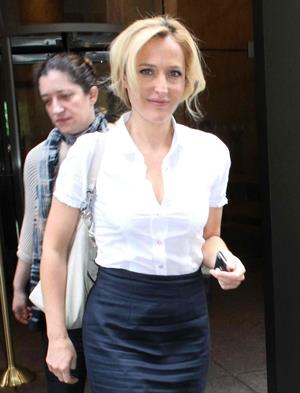 Gillian Anderson Visits the SiriusXM Studios (May 16, 2013)