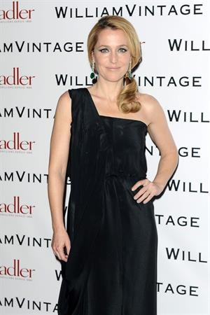 Gillian Anderson attends private dinner hosted by William Vintage February 8, 2013 in London