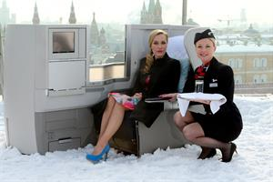 Gillian Anderson - British Airways Photoshoot on the roof of the Ritz-Carlton Moscow Hotel March 6, 2012