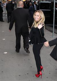 Hayden Panettiere at Good America in New York on October 9, 2013