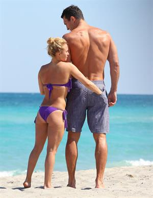 Hayden Panettiere on the beach in Hollywood, Florida 3/30/13