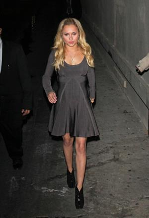 Hayden Panettiere leaving Jimmy Kimmel Live 11/7/12