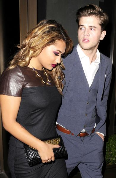 Vanessa White Leaving Novikov Restaurant in London - November 14, 2012