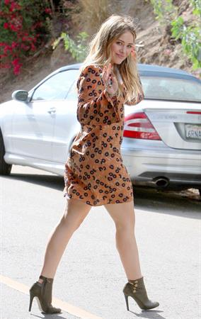 Hilary Duff in Los Angeles 10/29/13