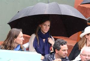 Hilary Swank at the Roland Garros Tennis French Open Tournament June 10, 2012