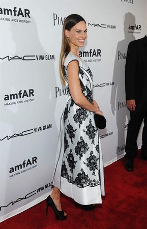 Hilary Swank attends the 3rd annual amfAR Inspiration Gala New York on June 7, 2012