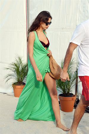 Irina Shayk - In a bikini on the beach in Miami, Florida - December 7, 2012