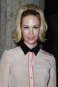 January Jones Miu Miu F/W 2013 fashion show in Paris 3/6/13