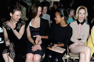 January Jones Miu Miu F/W 2013 fashion show in Paris 3/6/13