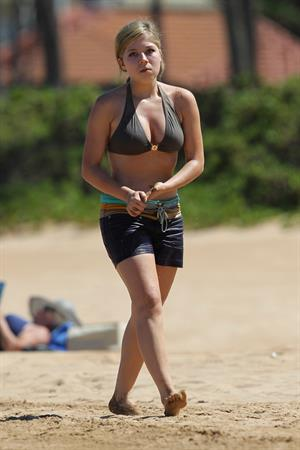 Jennette McCurdy in a Bikini Top in Maui 8-30-2012