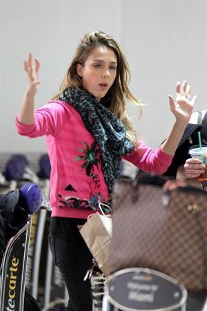 Jessica Alba at Miami Airport 3/13/13