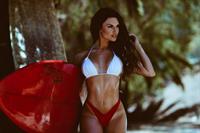 Lauren Abraham in a bikini