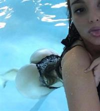 Ines Helene in a bikini