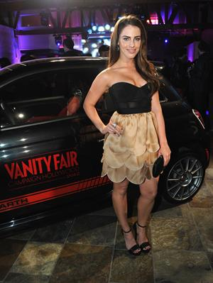 Jessica Lowndes Vanity Fair DJ night with Loreal Paris Fiat in Hollywood on Feb 25, 2012